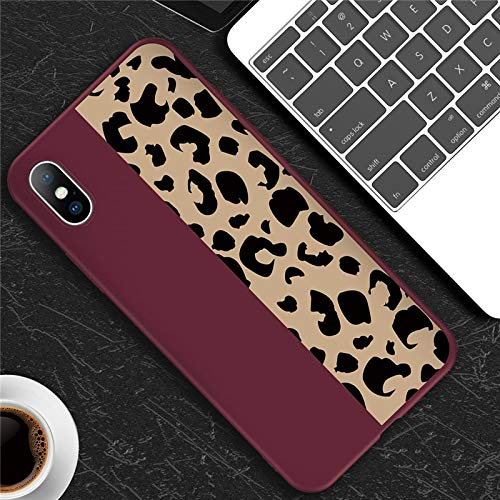 Fitted Cases - Phone Case For Iphone 6 6s 7 8 Plus X Xr Xs Max 5 5s Fashion Leopard Print Colorful Soft Tpu For Iphone X Phone Case - For iPhone 8_T3 wine red - Clip Armband Swimsuits V