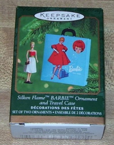 1 X BARBIE ORNAMENT AND TRAVEL CASE