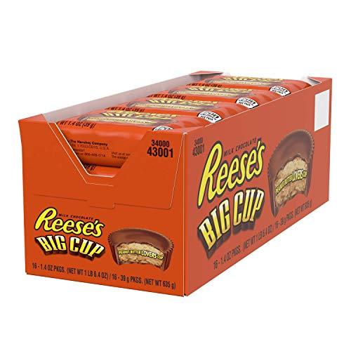 Reeses Big Cup Standard Bar - Großer Erdnussbutter-Cup-Riegel: 16 Stück (16 x 39 g)