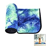 yoga towels tie dye - LEALSS Super Soft Sweat Absorbent Non-Slip Bikram Hot Yoga Towels for Yoga Pilates with Travel Bag (72