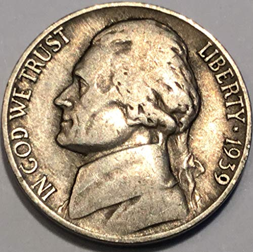 1939 D Jefferson Five Cents Nickel Choice Extremely Fine