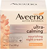 Beauty : Aveeno Ultra-Calming Nourishing Night Cream, Fragrance Free, 1.7 Ounce
