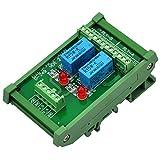 Electronics-Salon DIN Rail Mount 2 DPDT Signal Relay Interface Module, DC 5V Version.