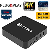 SUNNZO Pro Android 6.0 TV BOX/HD Streaming Devices for TV with Amlogic S905 1GB+8GB eMMC,Wifi,H.265