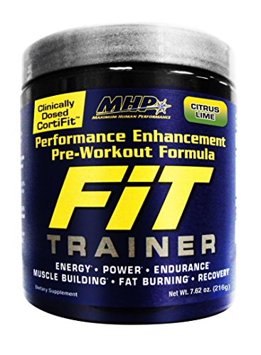 MHP Fit Trainer Pre-Workout Formula, Citrus Lime, 7.62 Ounce