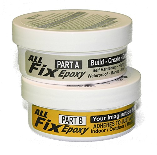 (All-Fix Epoxy Putty Kit 1-1/2 LB - Pool - Marine - Underwater - Pond - Tank - Premium Sculpting Modeling & Repair Compound - Arts & Crafts Jewelry Design - Sculpting - Modeling Fix All Things)