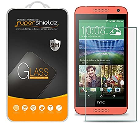 [2-Pack] Supershieldz for HTC Desire 610 Tempered Glass Screen Protector, Anti-Scratch, Anti-Fingerprint, Bubble Free, Lifetime Replacement Warranty