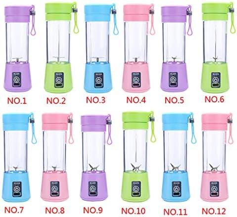 Qinghengyong Exprimidor eléctrico Multifuncional Mini USB portátil Recargable Libre Taza exprimidor exprimidor Inicio Jugo Making Regalo de la Taza de 380 ml