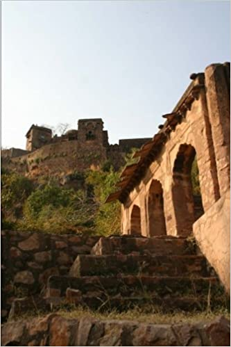 Ranthambore Fort Temple Ruins Rajasthan India Journal: 150 page lined notebook/diary