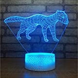 Mmzki 7 Color Change Animal Touch Button Night Lights USB Weasel Modeling 3D Led Kids Table Lamp for Living Room Luminarias Home Decor