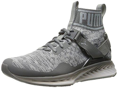 Puma Mens Ignite Evoknit Fade Cross Trainer Shoe  Quiet Shade Quarry White  12 M Us