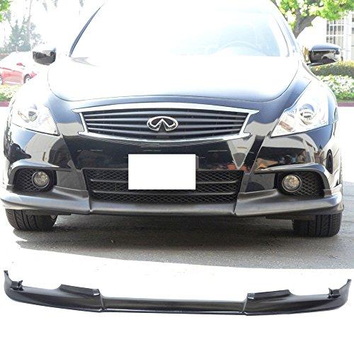 Front Bumper Lip Spoiler Fits 2010-2013 Infiniti G37 | OE Style Black PU Front Bumper Lip Spoiler Bodykit Splitter Diffuser Air Dam Chin Diffuser by IKON MOTORSPORTS | 2011 2012