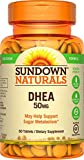 Sundown Naturals DHEA 50 mg, 60 Tablets (Pack of 3)