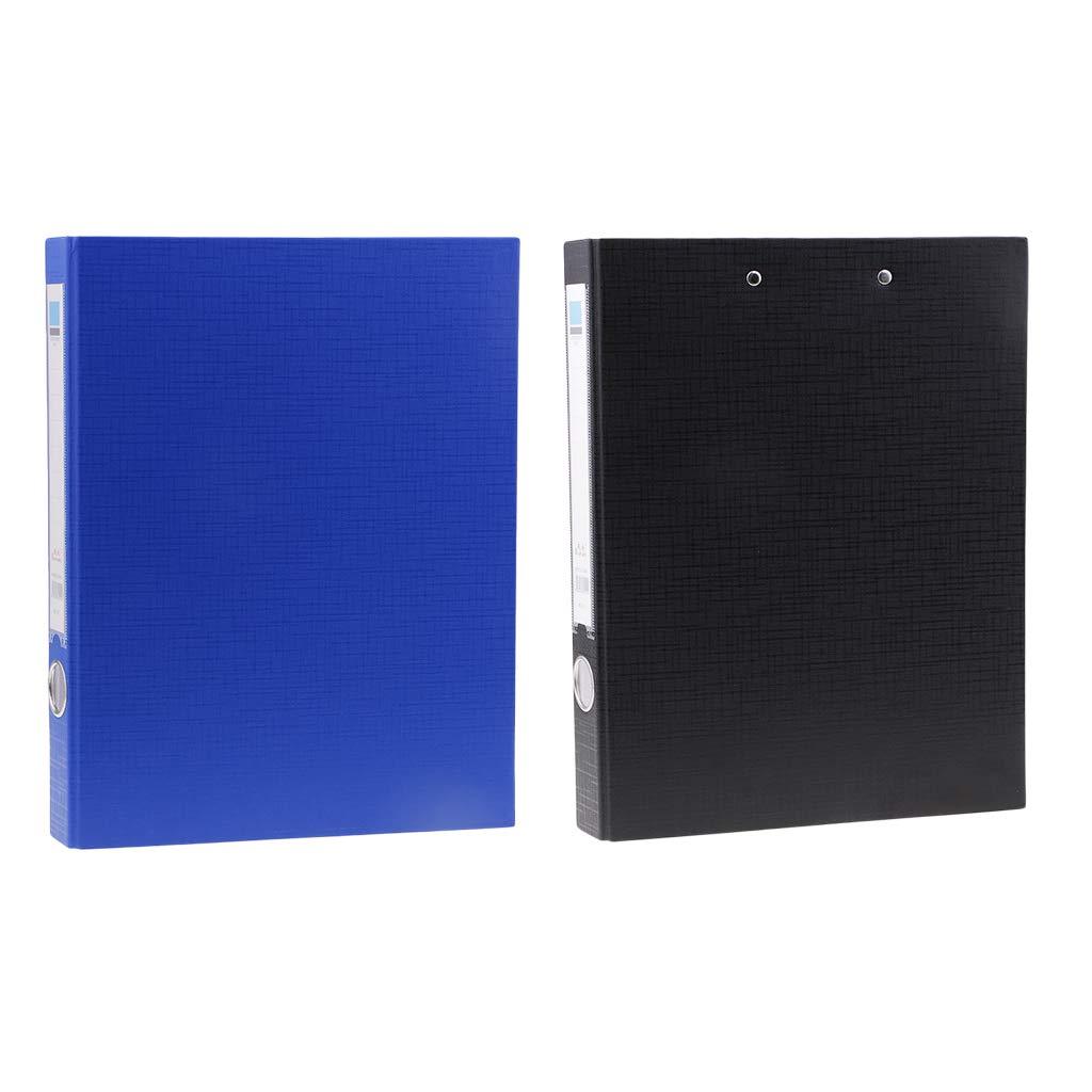 noir Fenteer Bloc-notes en M/étal Clipboard Pliable Plaque Porte-Bloc Convient pour Classe Studio Bureau