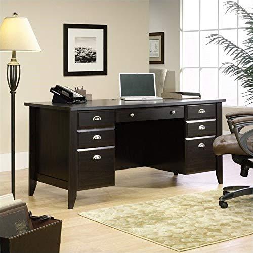 Sauder Shoal Creek Executive Desk,Jamocha Wood finish (Desk Office Furniture)