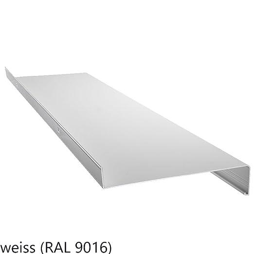 silber anthrazit Aluminium Fensterbank Zuschnitt auf Ma/ß Fensterbrett Ausladung 165 mm wei/ß dunkelbronze