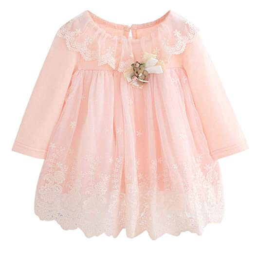 d25e92d163c3 Woaills-Tops 2018 New!!Princess Dress,Newborn Infant Baby Girl Lace Tulle