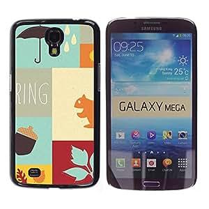 Caucho caso de Shell duro de la cubierta de accesorios de protección BY RAYDREAMMM - Samsung Galaxy Mega 6.3 - Autumn the new spring