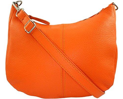 Italie Orange Clair Mamamia Sac Cuir bandouliere CHLOLY vwxqIF1Y