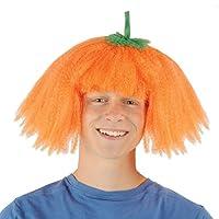 Beistle 00337 Pumpkin Wig, Orange/Green
