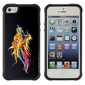 "Hypernova Defender Series TPU protection Cas Case Coque pour Apple iPhone SE / iPhone 5 / iPhone 5S [Colorido Dragón asiático""]"