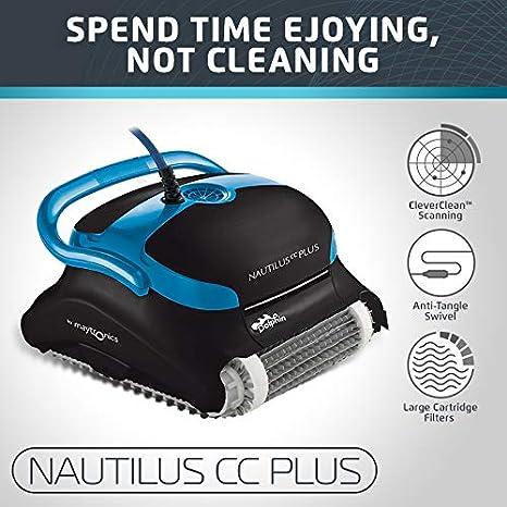 Dolphin Delfín 99996403-pc delfín Nautilus Plus Robot Limpiador de Piscina: Amazon.es: Jardín