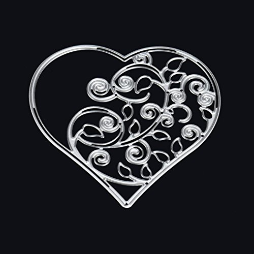 2018 Flower Heart Metal Cutting Dies Stencils DIY Scrapbooking Album Paper Card Craft by Topunder