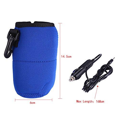 Travel Car Baby Bottle Warmer Milk Warmer Bag,Portable 12V Car Food Water Bottle Heater Warmer,Keep Temperature Bag by GLOGLOW (Image #2)
