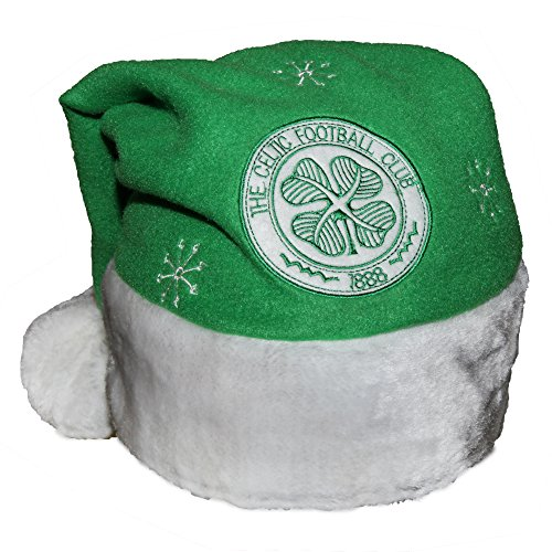 Celtic FC Novelty Christmas Santa Hat (One Size) (Green)