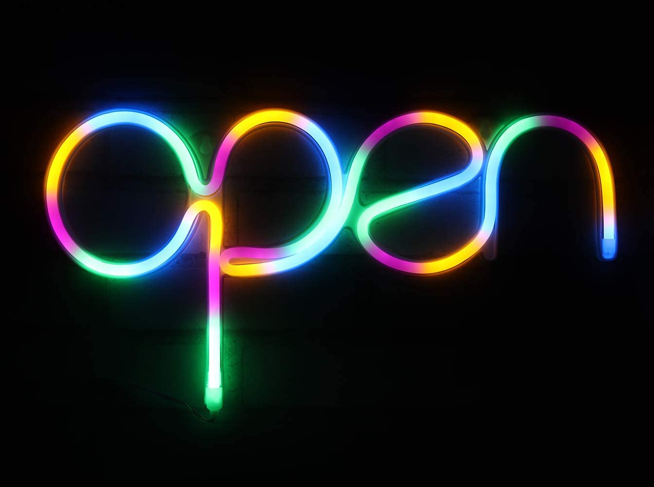 Open Sign Pink USB Powered LED Sign 15.5x8.4 inch,Long Cord 11.5 FT Girls LED Neon Open Sign Light for Pub,Bar,Beer,Caf/é,Ice Cream Truck,Spa,Beauty or Hair Salon,Florist,Massage,Tattoo Store OP
