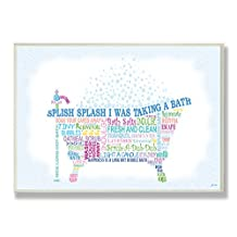 The Stupell Home Decor Collection Splish Splash Typography Bathroom Wall Plaque