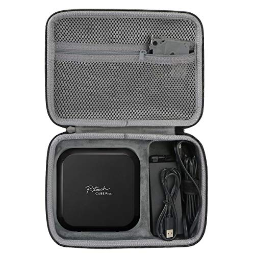 Co2Crea Hard Travel Case for Brother P-Touch Cube Plus PT-P710BT Versatile Label Maker
