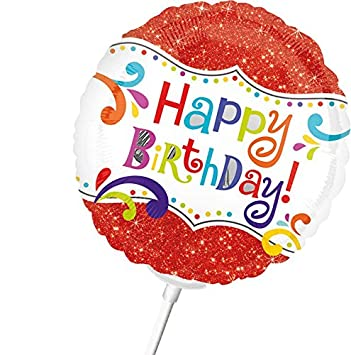 Gut bekannt Folienballon - Mini GEBURTSTAGSGRUß ca. 23cm, mit Luft gefüllter SG43