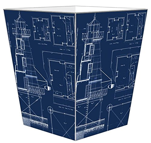 Marye-Kelley WB2700 - Lighthouse Blueprints Wastepaper Basket