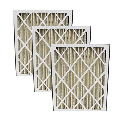 3 Replacement Pleated Furnace Air Filters, Compatible with Trion Air Bear 255649-102 Pleated Furnace Air Filter 20x25x5 (20