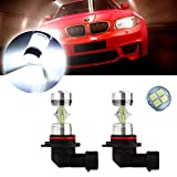 cciyu 2 Pack Xenon White 6000K 60W 9006 HB4 Cree LED 12 SMD Fog Light High Power