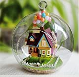 Crafting DIY Tiny Cute House Hobby Learning Imagination Enhance Skill IQ/EQ Gift Assembling Model Decoration Home Handmade Hanging Gift Cute Toy Novelty Doll House Light U-DI3