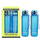 Survivor Sports Water Bottles (32oz) - 2 Bottle Set (2 Liters Total)...