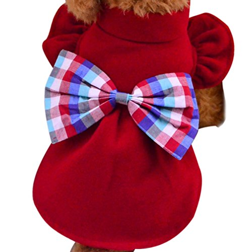 [DEESEE(TM) Pet Dog Winter Clothes Coat Apparel Puppy Warm Motorcycle Vest Costume (XS, Red)] (Pictures Of Pikachu Costumes)