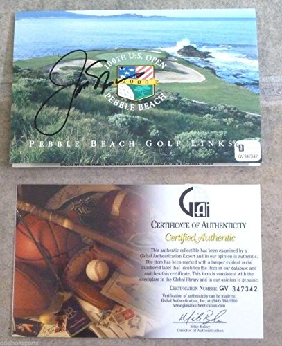 JACK NICKLAUS AUTOGRAPHED 100TH US OPEN GOLF SCORECARD - CERTIFIED AUTHENTIC