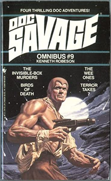 """DOC SAVAGE #11 Fear Cay FIGHTING WITH MAN = POSTER Paperback 8 SIZES 17/"""" 3 FT"""