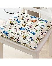 Podkładki na krzesła z wiązaniami do krzesła do jadalni opakowanie 2, wygodne poduszki do siedzenia dla kurczaka antypoślizgowe na zewnątrz do wewnątrz ogrodu kuchni salonu patio biura poduszka na krzesło (indyjozaur, 40 x 40 cm)