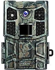 Victure Wildkamera Fotofalle 20MP 1080P 40 Low-Glow Infrarot-LEDs mit bewegungsmelder Nachtsicht Wasserdicht Jagdkamera 0,2s Auslösezeit für Jagd, Überwachung von Eigentum und Tieren