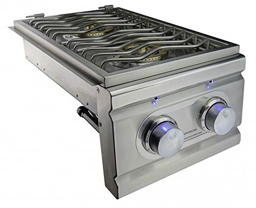 RDB1EL Stainless Steel Double Side Burner for Cutlass Pro Grills Up to 24000 BTUs Natural - Account Rcs