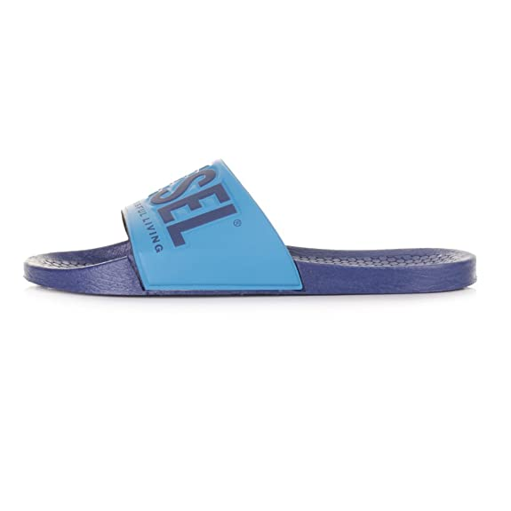 7b3241514565 Mens Diesel Freestyle Blue Vivid Slider Flip Flops SIZE 8   EU42   Amazon.co.uk  Shoes   Bags