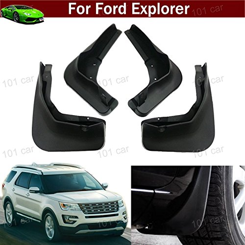 - New 4pcs Black Color Front + Rear Car Mud Flaps Mudflaps Mud Guards Mudguard Splash Guard Fender Pretector Custom Fit for Ford Explorer 2011 2012 2013 2014 2015 2016 2017 2018 2019