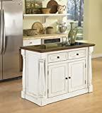 granite top kitchen cabinet - Home Styles 5021-94 Monarch Kitchen Island with Granite Top, Antiqued White Finish