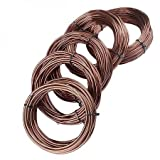 5x Aluminum Bonsai Garden Wire Rolls Branch Re-alignment Styling Shaping Holding Securing Small/Medium/Large Trees After Repotting 1.5/2.0/2.5/3.0/3.5mm