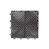 IncStores Nitro Garage Tiles 12''x12'' Interlocking Garage Flooring (1-12''x12'' Tile, Vented Black)
