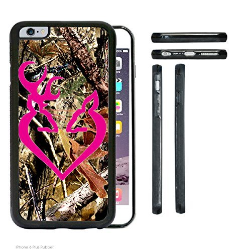 ACCY casi–Reale Albero Camo Buck hot rosa Buck Love iPhone 6Plus Rubber Silicone TPU Cell Phone Case
